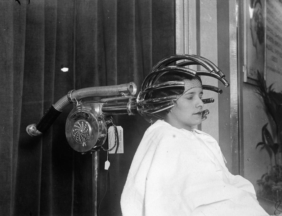 secador de pelo de los años 30