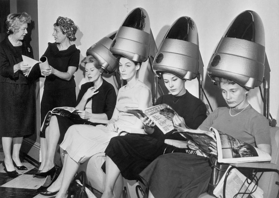 Women Using Old Fashioned Vibrator